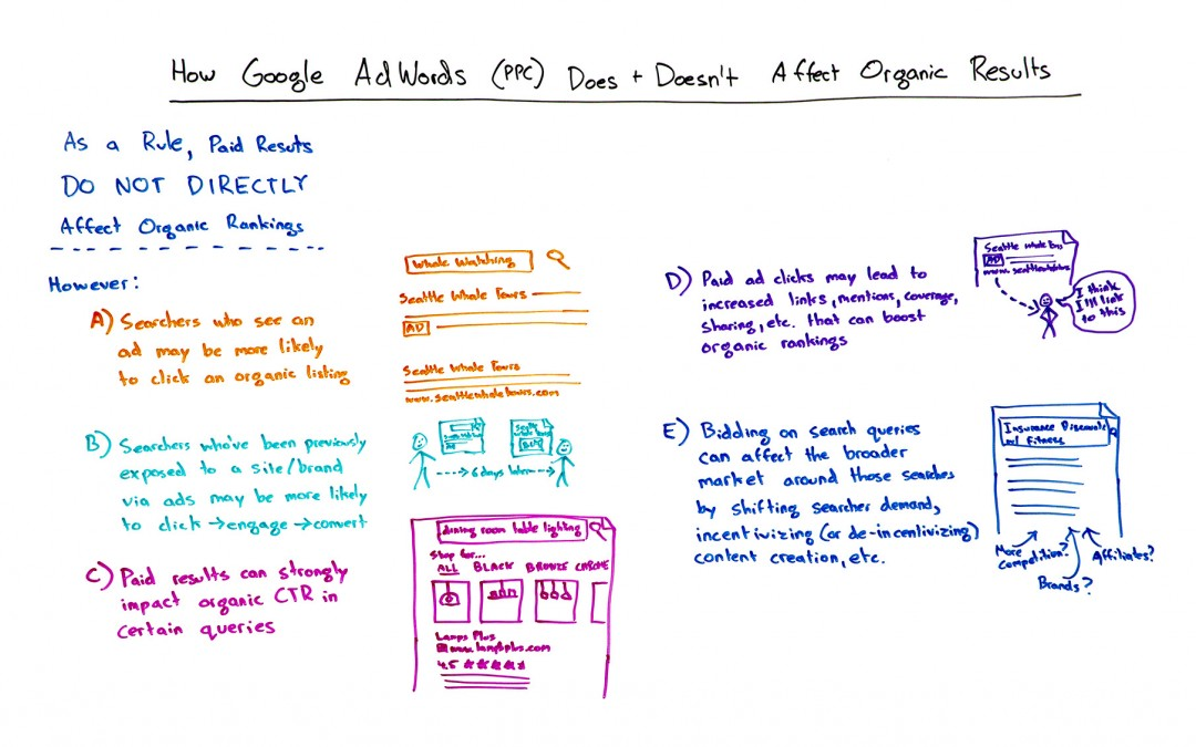 How Google AdWords (PPC) Does and Doesn't Affect Organic Results – Whiteboard Friday